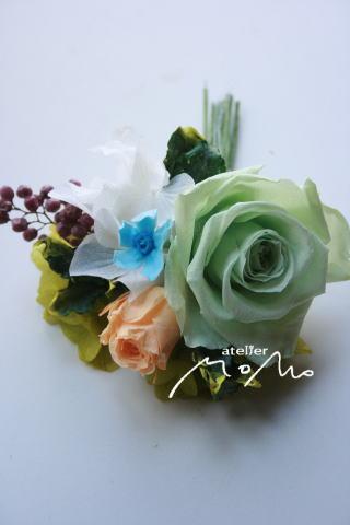 花冠~淡いグリーンのドレスに~_a0136507_20413816.jpg