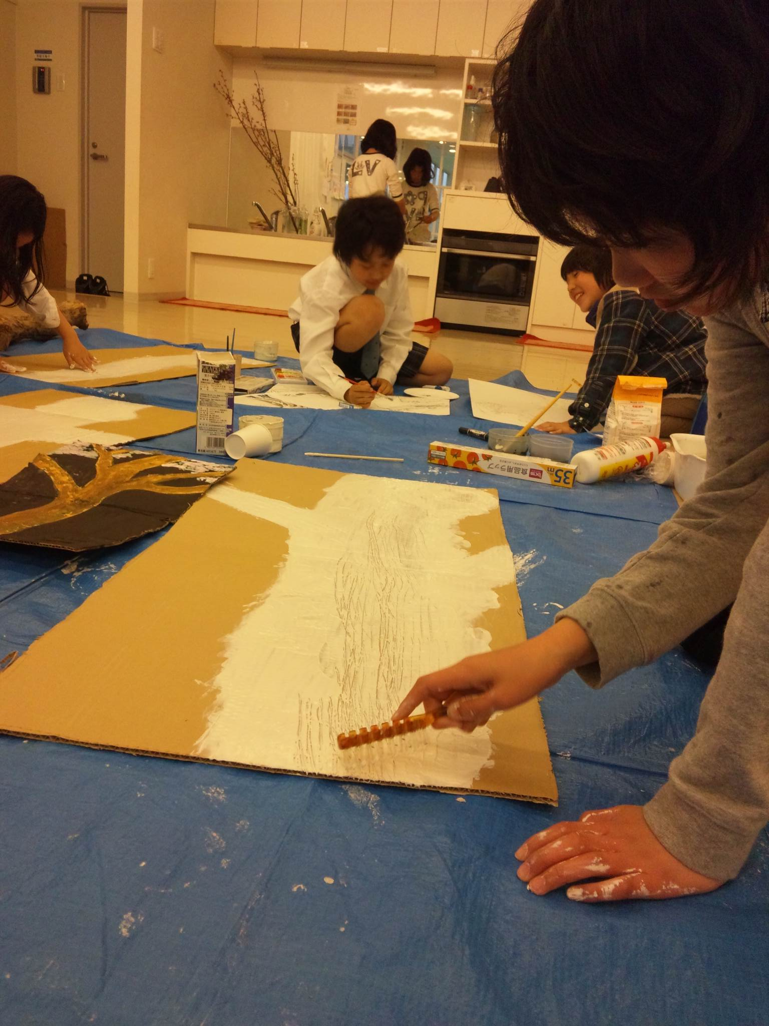 松井山手教室~前回の続き&創造画「木」~_f0215199_228384.jpg