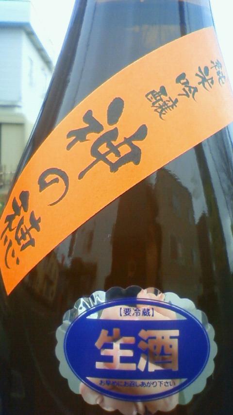 【日本酒】 颯 純米吟醸 無濾過生酒 神の穂 22BY_e0173738_11471537.jpg