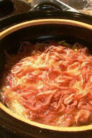 桜えびとたけのこ・新生姜の焼おにぎり。_c0161981_18174928.jpg