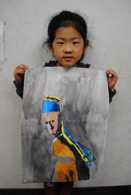 名画の模写・作品の仕上げ*長尾教室*_f0215199_22314710.jpg