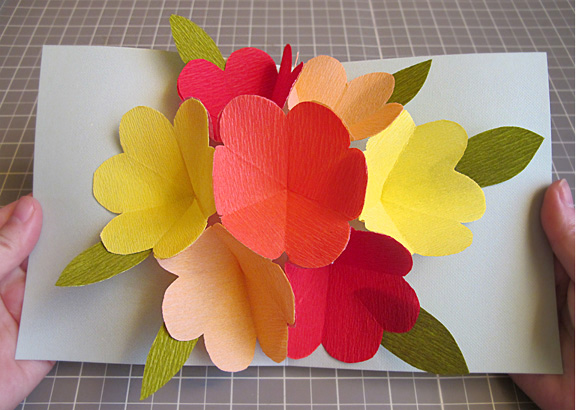 ポップアップカード・飛び出す ... : 花 型紙 無料 : 無料