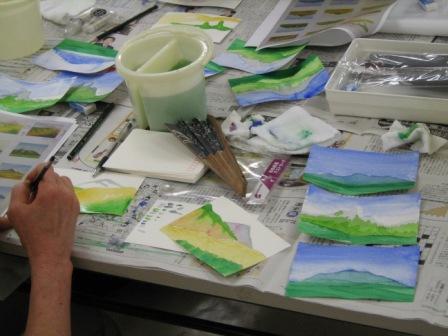 水彩画のテクニック~大地を描く~が行われました。_f0238969_1811361.jpg