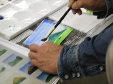 水彩画のテクニック~大地を描く~が行われました。_f0238969_18144583.jpg