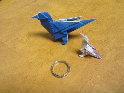 クリスマス 折り紙 : 折り紙 鳥 : paperpaper.exblog.jp