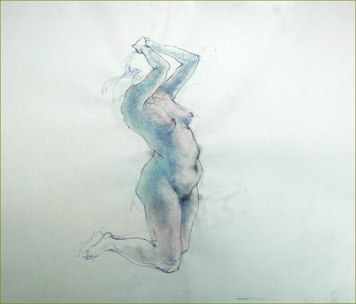 膝をついて・・・・裸婦素描_f0159856_719872.jpg