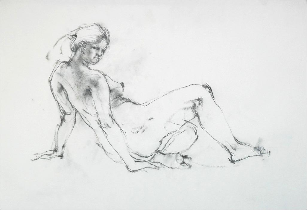 裸婦素描・・・・木炭・鉛筆_f0159856_8103187.jpg