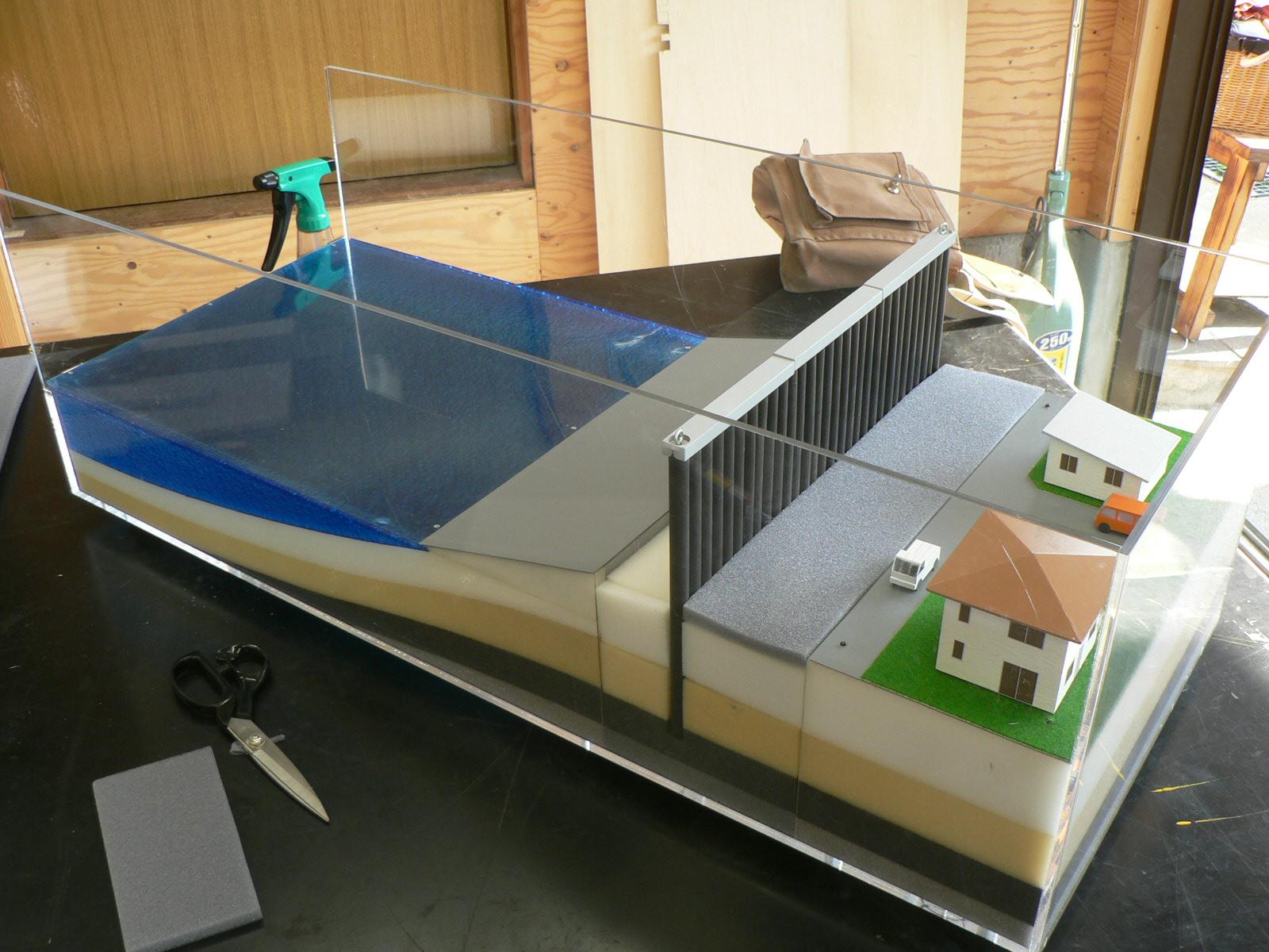 堤防模型の製作_e0146402_17171939.jpg
