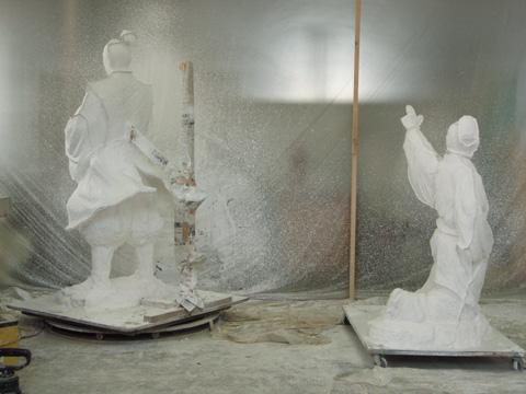 銅像制作の工程_b0145843_0163071.jpg
