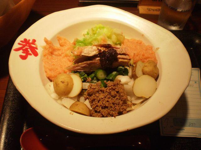 桜鱒のチャンチャン和え麺@拳_a0117520_22191667.jpg