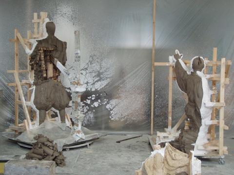 銅像制作の工程_b0145843_012574.jpg