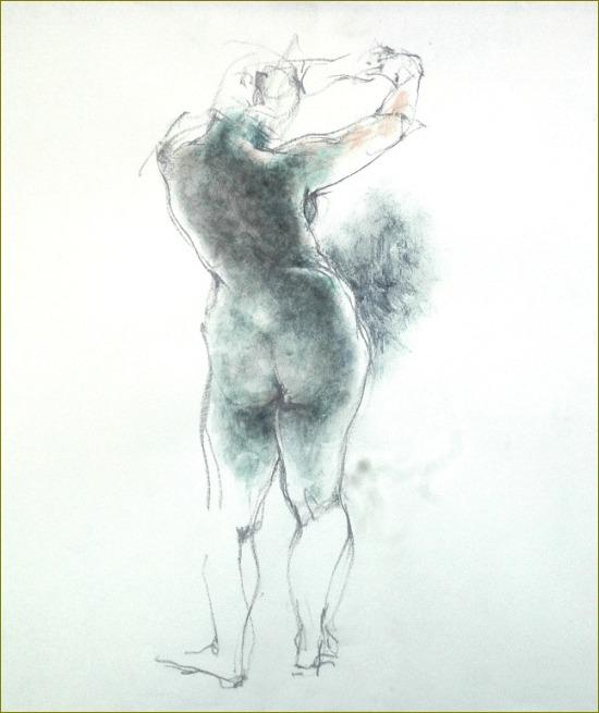 裸婦素描・・・手を前方に_f0159856_841758.jpg