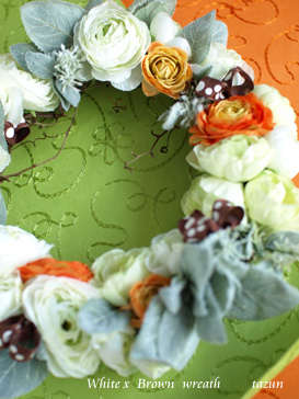 wreath ♪  white x brown_d0144095_21544398.jpg
