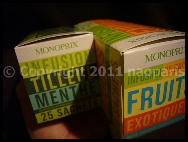 【ハーブティー】最近モノップMONOPRIXのハーブティーがウチにいる(PARIS)_a0014299_15455922.jpg