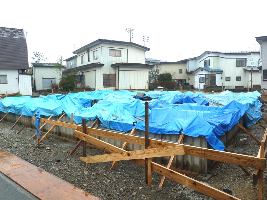 K様邸「船場町の家」 基礎立上り打設_f0150893_199087.jpg