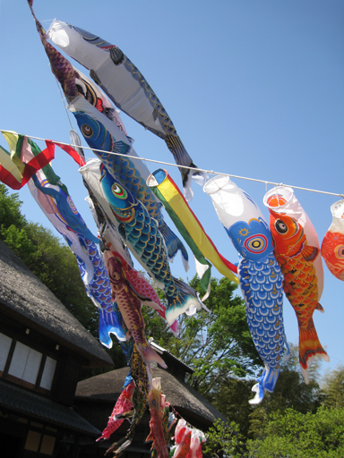 横浜市農村生活館「横溝屋敷」の鯉のぼり