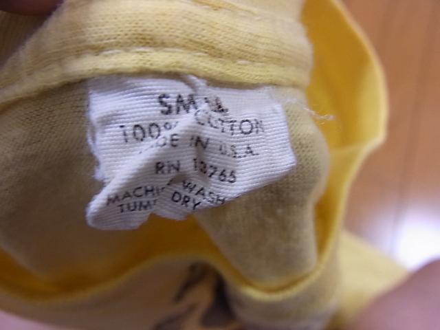 5/7(土)入荷商品!70'S 染み込みプリントTシャツ!_c0144020_21425557.jpg