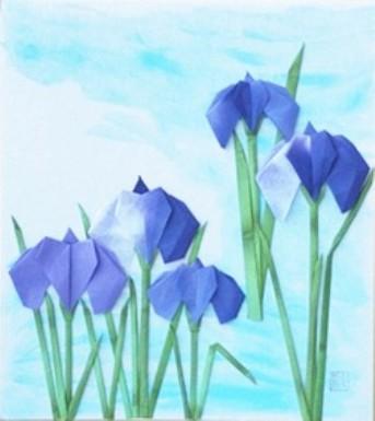 ハート 折り紙 : 菖蒲 折り紙 : ori23.exblog.jp