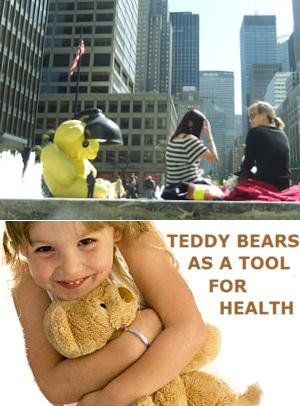 ニューヨークに巨大テディ・ベア・アート作品展示中、前向きな感情をもたらす効果も?_b0007805_11324380.jpg