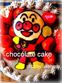 アンパンマンのチョコケーキ&こいのぼり弁当_f0193555_122314100.jpg