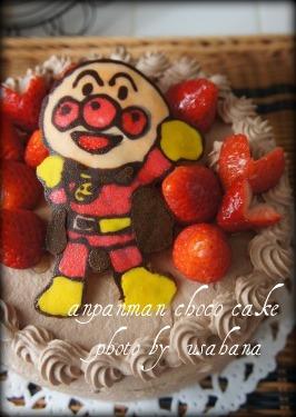 アンパンマンのチョコケーキ&こいのぼり弁当_f0193555_1235333.jpg