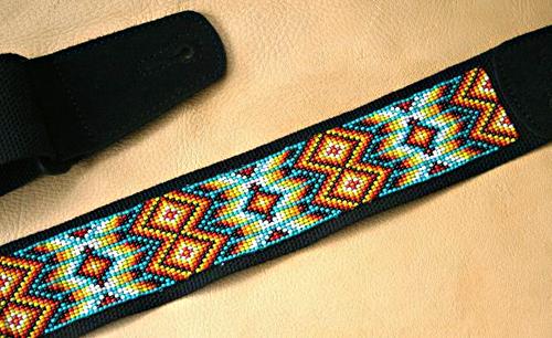 Beadsで編込まれたNativeな香り漂うGuitar Straps。_e0053731_18181847.jpg