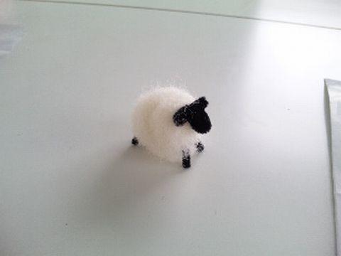 フジタファームさんで羊毛ヒツジさん作り体験!_b0213187_8214631.jpg