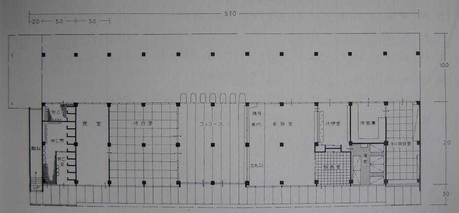 半世紀前の新築駅舎の平面図~『秋田鉄道管理局史』より_f0030574_23491681.jpg