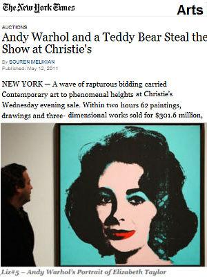 NYの春オークション、アンディ・ウォーホールとテディ・ベアが主役_b0007805_14554654.jpg