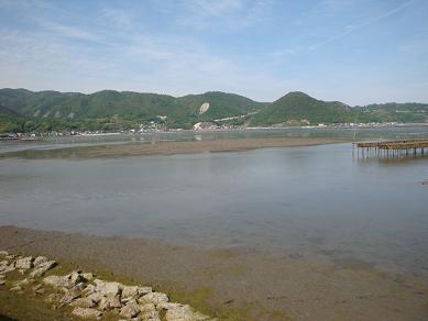 三津口湾の干潟を眺めながら_e0175370_23233745.jpg