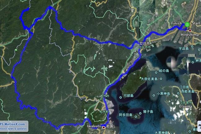 ●錦川清流線をソロツーリングと車窓の旅_a0033733_1821674.jpg