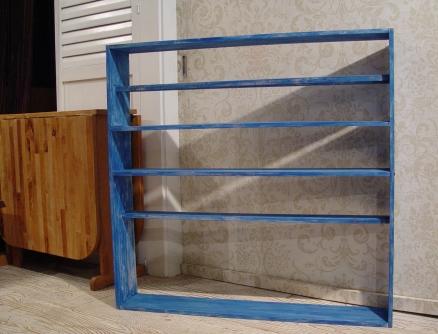 青いペンキの棚・完成!!_a0096367_21504926.jpg