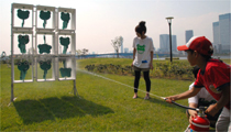 水消火器で的あてゲーム(1)