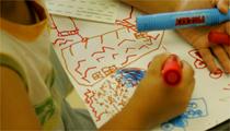 地震のイメージを絵に描こう