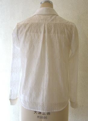 花柄刺繍生地の開襟シャツ (フルオーダー)_b0199696_16382652.jpg