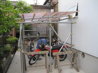 バイクガレージ Diy 単管