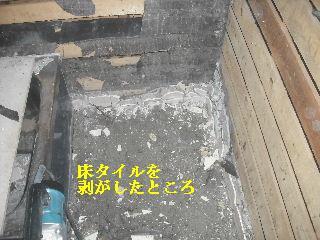 浴室リフォーム1日目 解体作業_f0031037_20534331.jpg