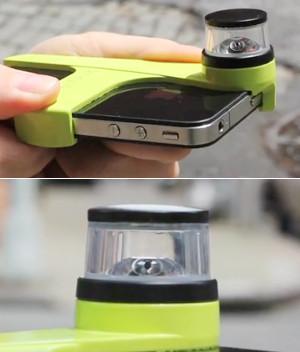 iPhoneに付けるだけで360度パノラマ動画を録画できちゃうカメラが登場?! Kogeto社のDot_b0007805_1262110.jpg