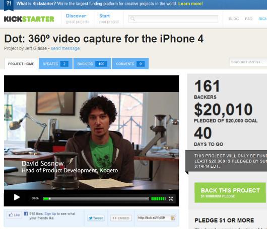 iPhoneに付けるだけで360度パノラマ動画を録画できちゃうカメラが登場?! Kogeto社のDot_b0007805_1364864.jpg