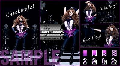 安室奈美恵の最新きせかえキット「Checkmate!」が、【キセカエ♪mu-mo】で5月25日より配信スタートした。_e0025035_12504636.jpg