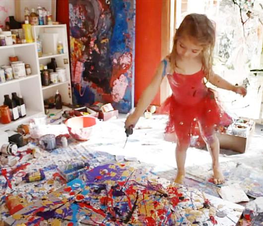 4歳の天才画家、アリータちゃん(Aelita Andre)がニューヨークのギャラリーで初の個展を開きます!!!_b0007805_7125846.jpg