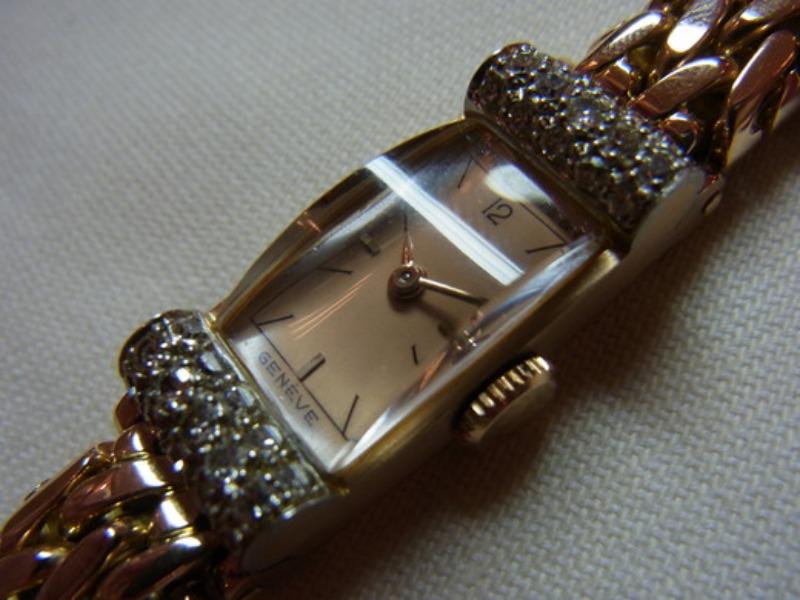 Lady\'s Patek Philippe Rose Gold ×Platinum._c0128818_23491526.jpg