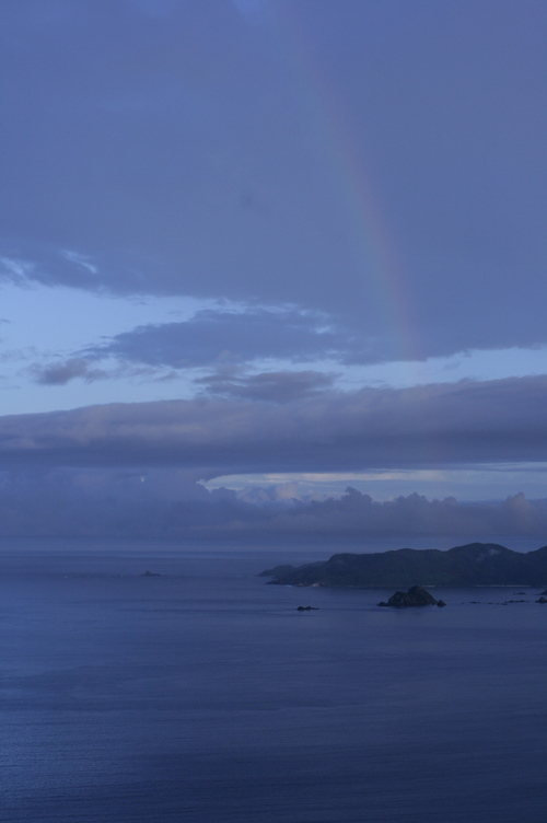 虹と夕日のギフト_e0220493_23555446.jpg