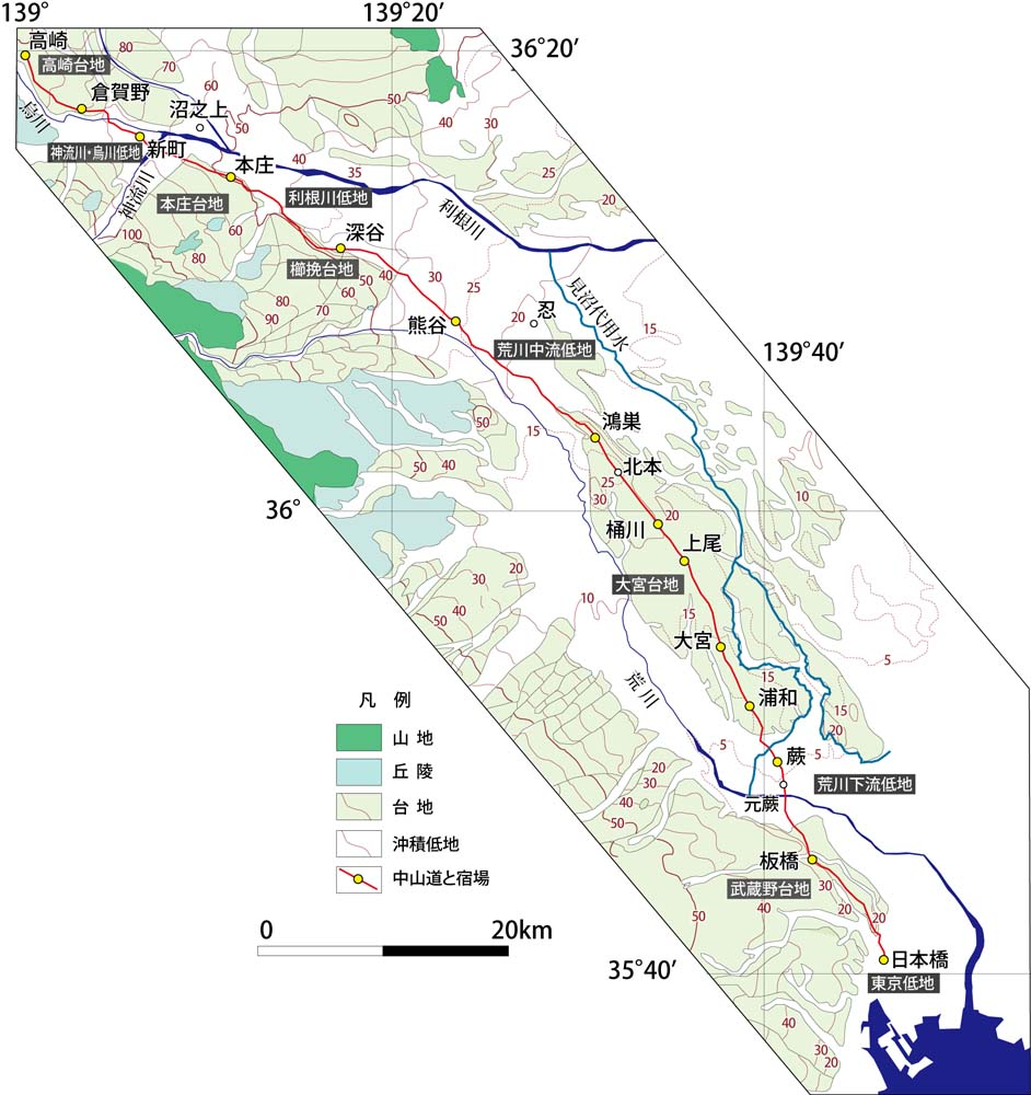 見沼代用水の地図 : 地形屋の日々の仕事