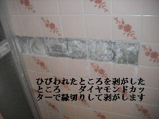 外壁コーキングと浴室タイル修理_f0031037_2225562.jpg