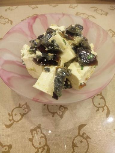 家常便飯 ピータン豆腐&食べるやさい焼き&ピリ辛シャコ酢_a0039748_2302759.jpg