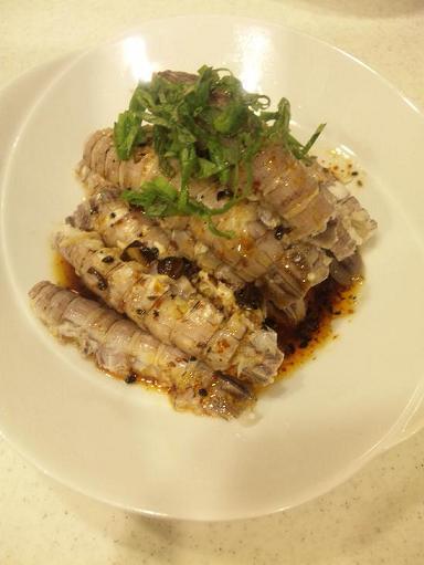 家常便飯 ピータン豆腐&食べるやさい焼き&ピリ辛シャコ酢_a0039748_2355026.jpg