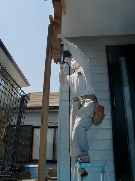 ポーチ柱の修理 ~ 腐食箇所の取替えです。_d0165368_683518.jpg