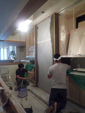 鮨屋、左官仕事が進んでいます_d0074981_20222633.jpg