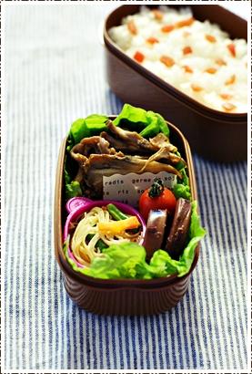 舞茸と牛肉のソテー弁当_e0015700_22555471.jpg